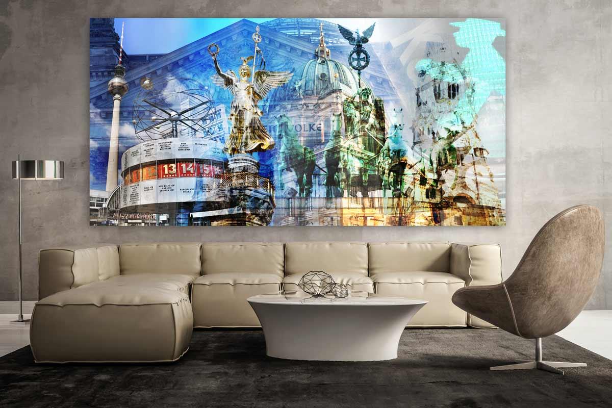 Gemalde Berlin Im Pop Art Design Moderne Kunst Aus Berlin Auf