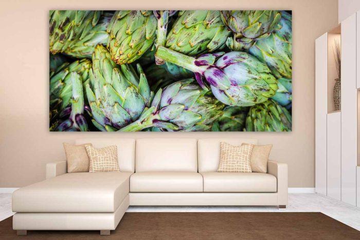 Glasbild Acryl und auf Leinwand. Moderne XL Panorama Kunst Motive