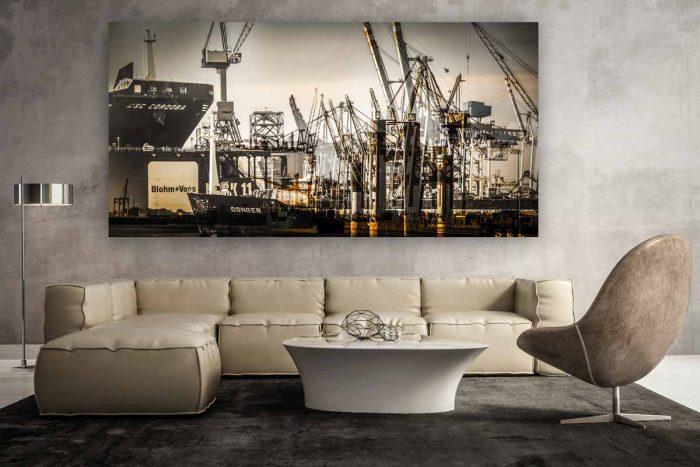Hamburg Art Kunst Panorama Collage | Foto Kunst Made in Hamburg an der Elbe