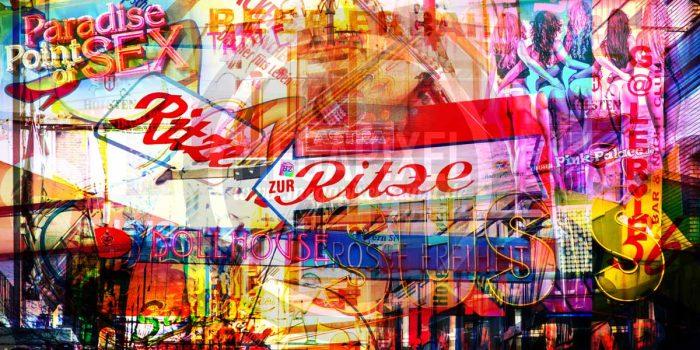 Hamburg Collage |Kunstbild Meine Stadt an der Alster