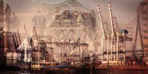 Hamburg Kunstmotiv - Moderne Bilder von Alster, Michel und Hafen