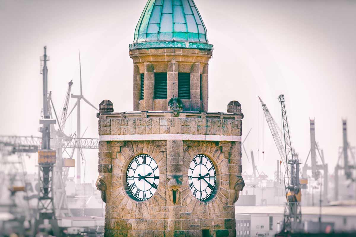 Hamburg Landungsbrücken. Kunst Bilder aus der Hansestadt. Acryl