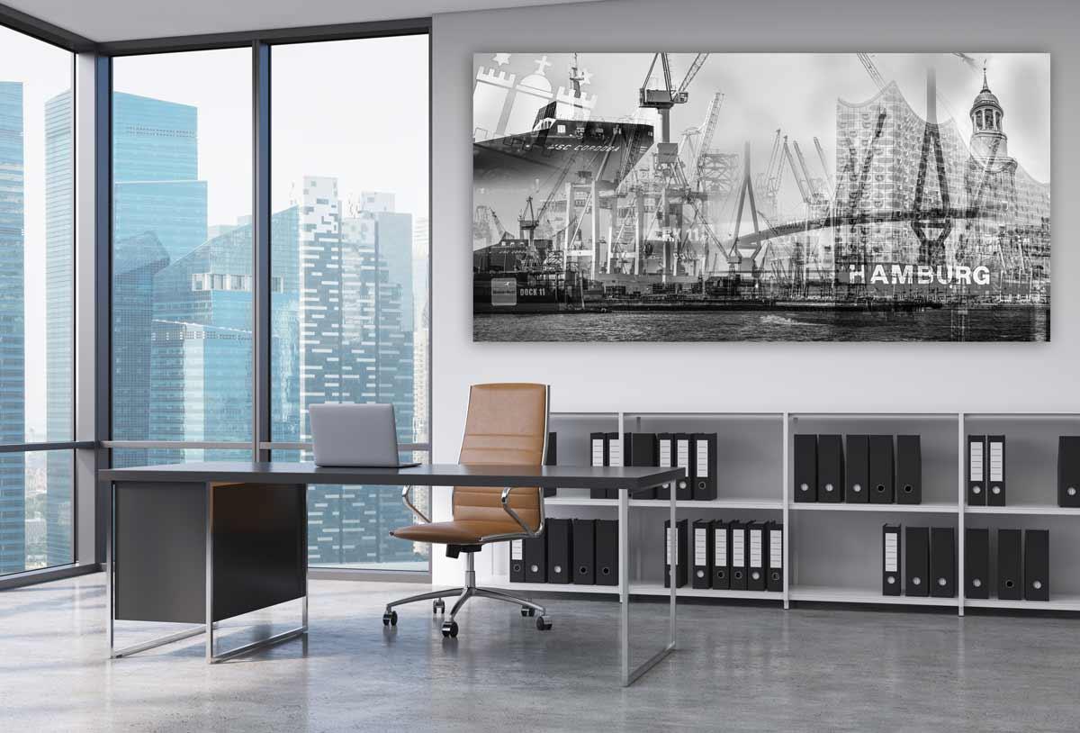 hamburg schwarz wei bilder und moderne kunst collagen und motive. Black Bedroom Furniture Sets. Home Design Ideas