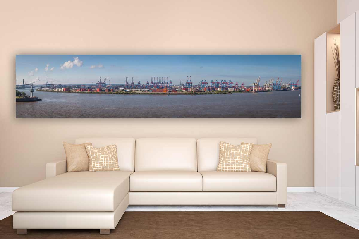 hamburg skyline hafen panorama bild acryl kunst von elbe und alster. Black Bedroom Furniture Sets. Home Design Ideas