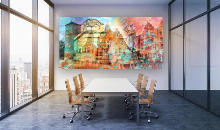 Hannover Kunstbild und Panorama Acryl Bilder. Moderne Leinwandbilder