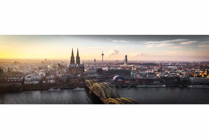 Köln Panorama Bild | Modernes Skyline Motiv in XL - Größe