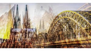 Kölner DOM Panorama Collage | Moderne Köln Bilder