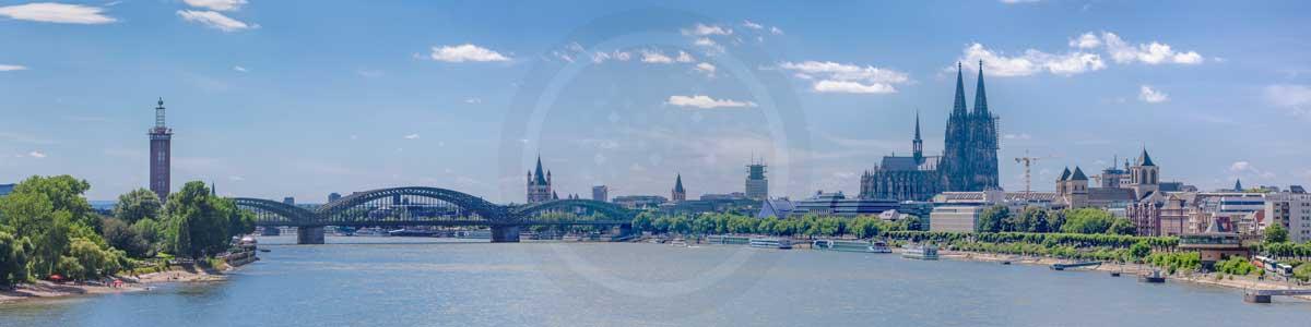 Köln Panorama Dom - Skyline Bilder aus der Domstadt mit Herz