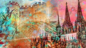 Köln Acrylbilder und Kunstwerke mit Kölner Dom und Hohenzollernbrücke. Faszinierende Farben und Xl Panorama Motive auf Acryl, auf Leinwand und AluDiBond. Tolle Wandbilder und Motive als Pop-Art Collage und Wandkunst. Exclusive Kunst für deine Wand. Für die eigenen 4 Wände, oder als hochwertige Bürokunst.