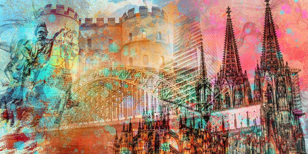 Köln Acrylbilder und Kunstwerke mit Kölner Dom und ...