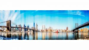 Kunst Skyline New York City | Pop-Art Panorama Bild