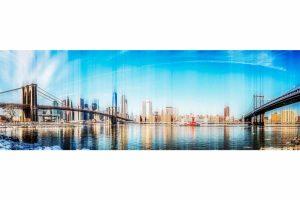Kunst Skyline New York City   Pop-Art Panorama Bild