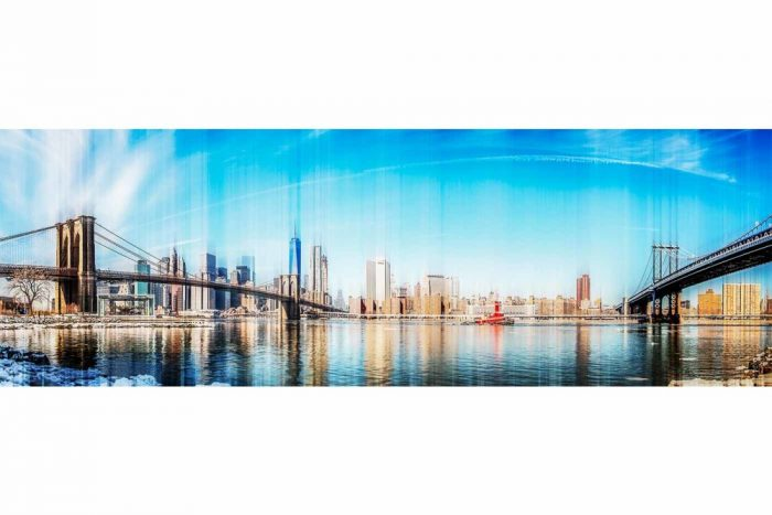 Kunst Skyline New York City | Pop-Art Panorama Bild