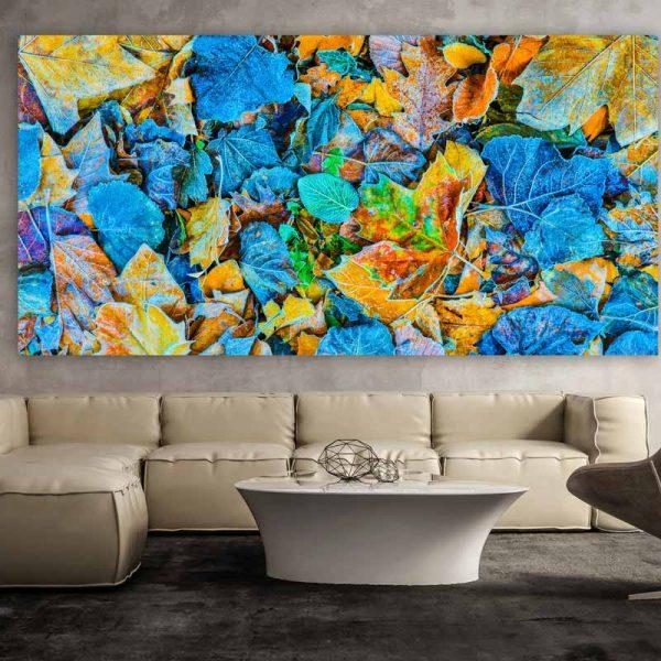 kunstbild herbst auf acryl und leinwand moderne pop art kunstbilder. Black Bedroom Furniture Sets. Home Design Ideas