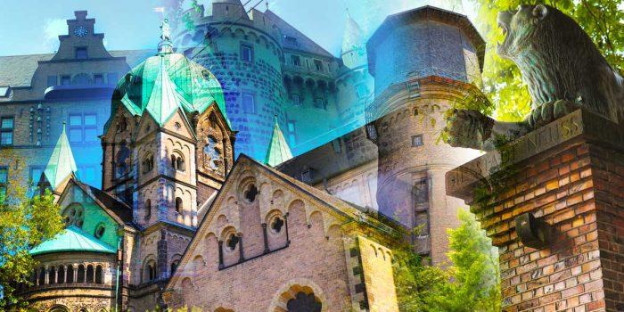 Kunstbild Neuss am Rhein. Bilder auf Leinwand, AluDiBond und Acryl