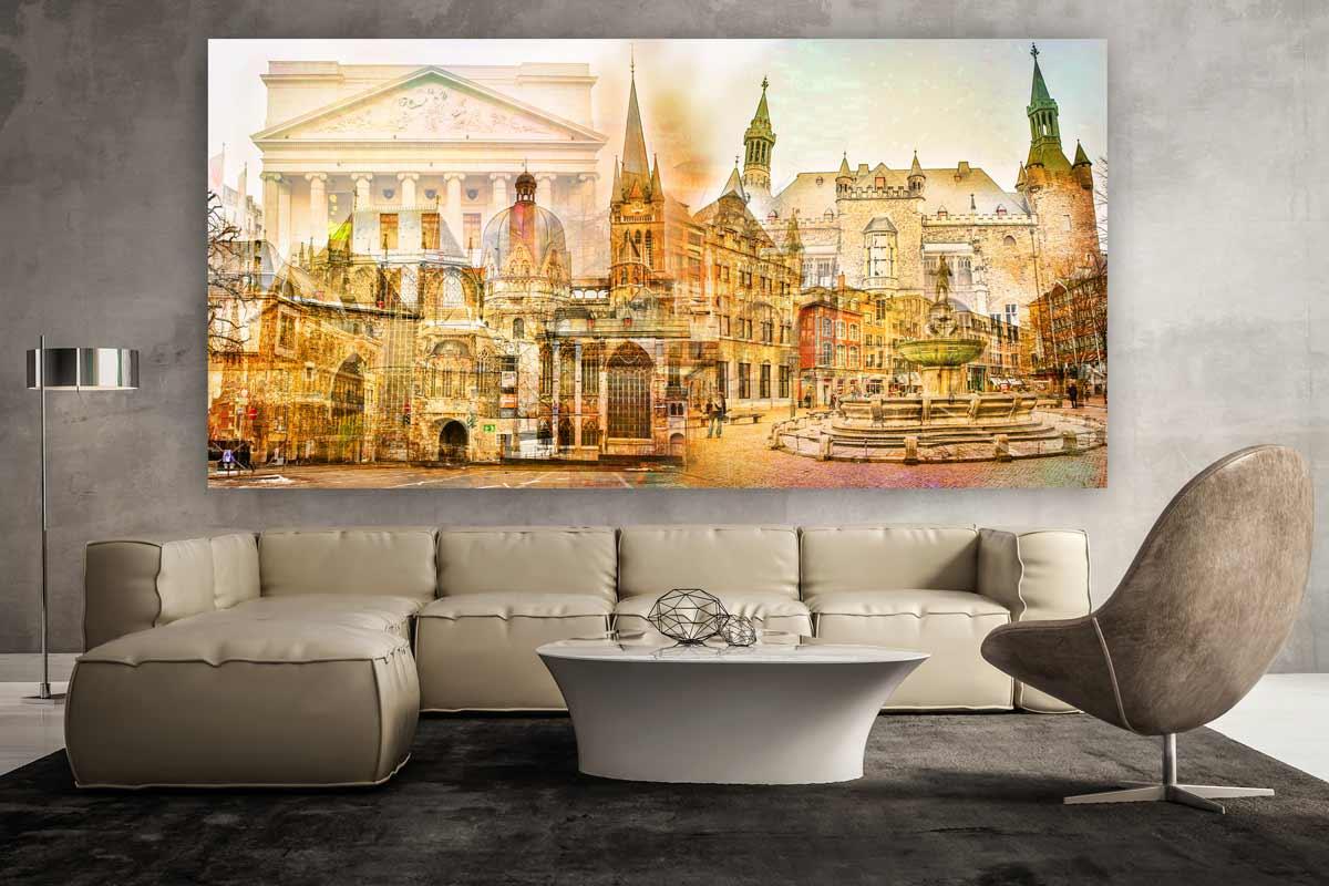 Kunstbilder Aachen auf Leinwand und Acryl - Pop-Art Kunst ...