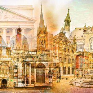 Kunstbilder Aachen auf Leinwand und Acryl - Pop-Art Kunst und Motive
