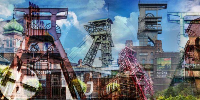 "Kunstbilder Ruhrgebiet ""Grubengold"" | Modern Fotokunst Collage"