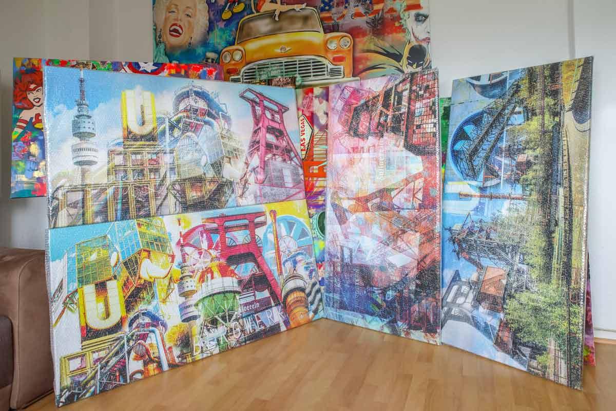 Kunstbilder-Ruhrgebiet,-Düsseldorf-und-Hamburg-Pop-Art
