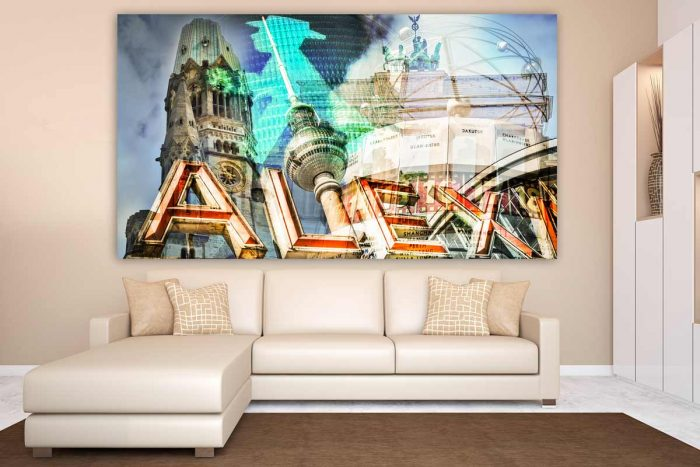 Kunstdrucke Berlin im Pop-Art Panorama Kunst Design mit Fernsehturm