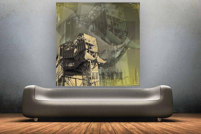 Kunstdruck Ruhrgebiet im Pop-Art Design. Leinwand, AluDiBond und Acryl