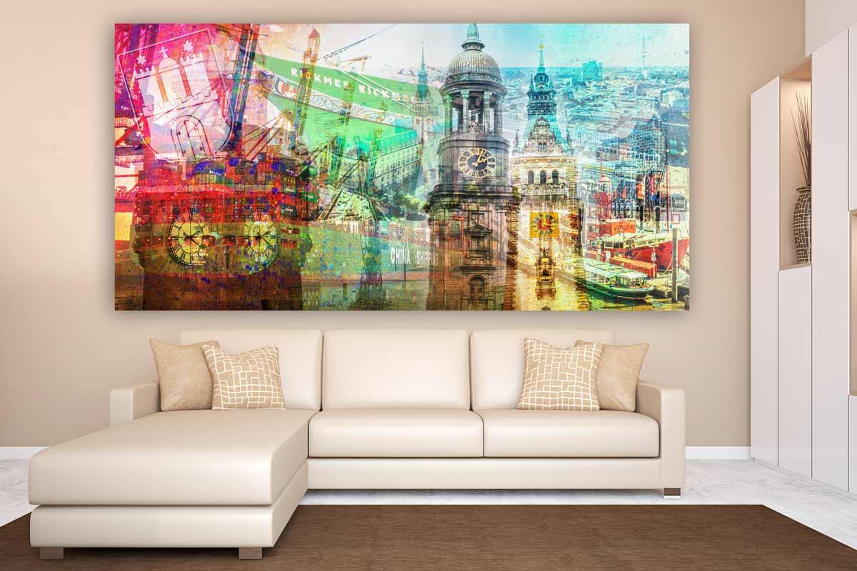 Kunstdrucke hamburg im panorama style moderne pop art for Moderne wandbilder