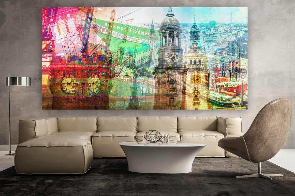 Kunstdrucke Moderne Kunst hamburg im panorama style moderne pop wandbilder