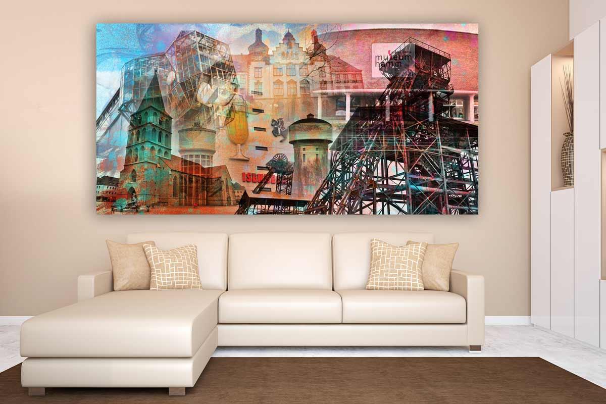 Kunstdrucke hamm im pop art design moderne wandbilder auf - Moderne wandbilder auf leinwand ...