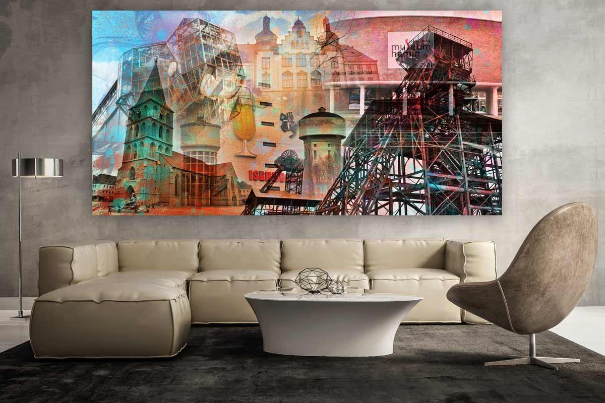 Kunstdrucke Modern hamm im pop design moderne wandbilder auf leinwand