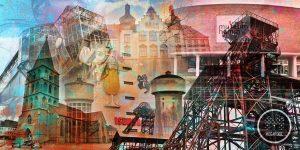 Kunstdrucke Hamm im Pop-Art Design. Moderne Wandbilder auf Leinwand