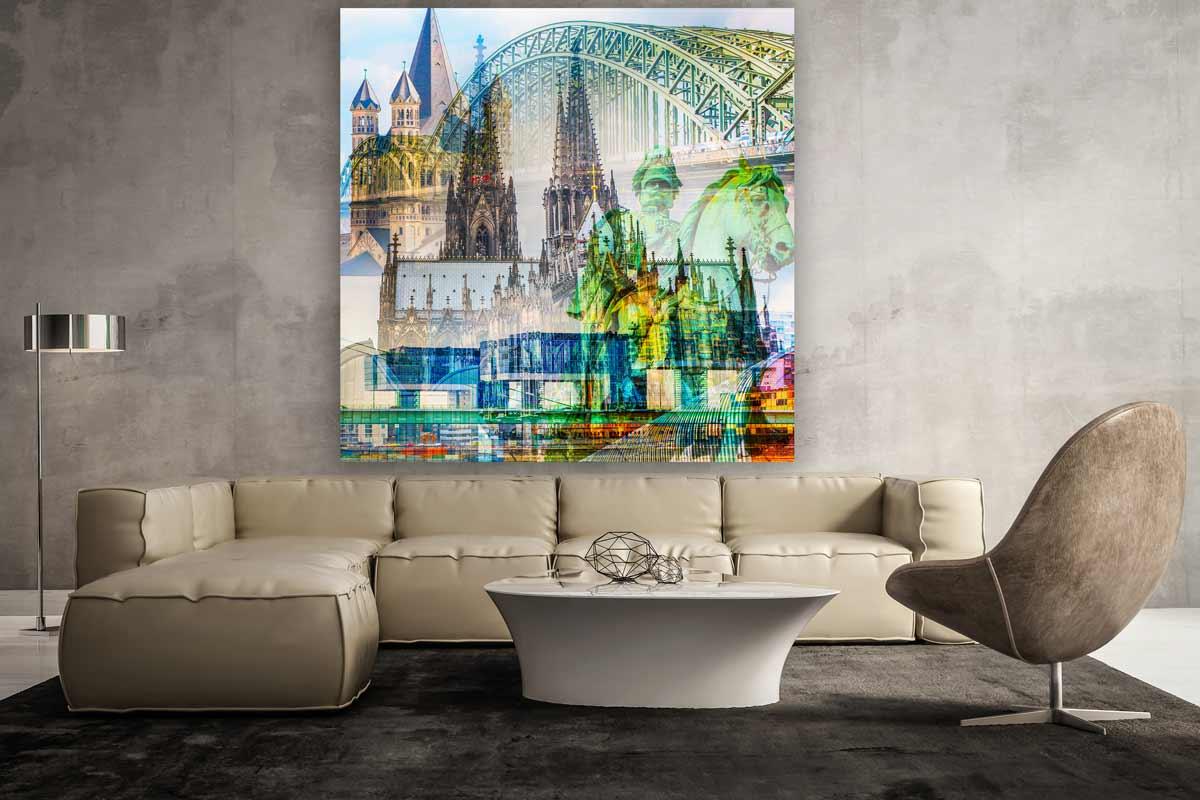 Kunstmotiv Köln am Rhein. Moderne Kunst, Pop-Art bis Fotokunst