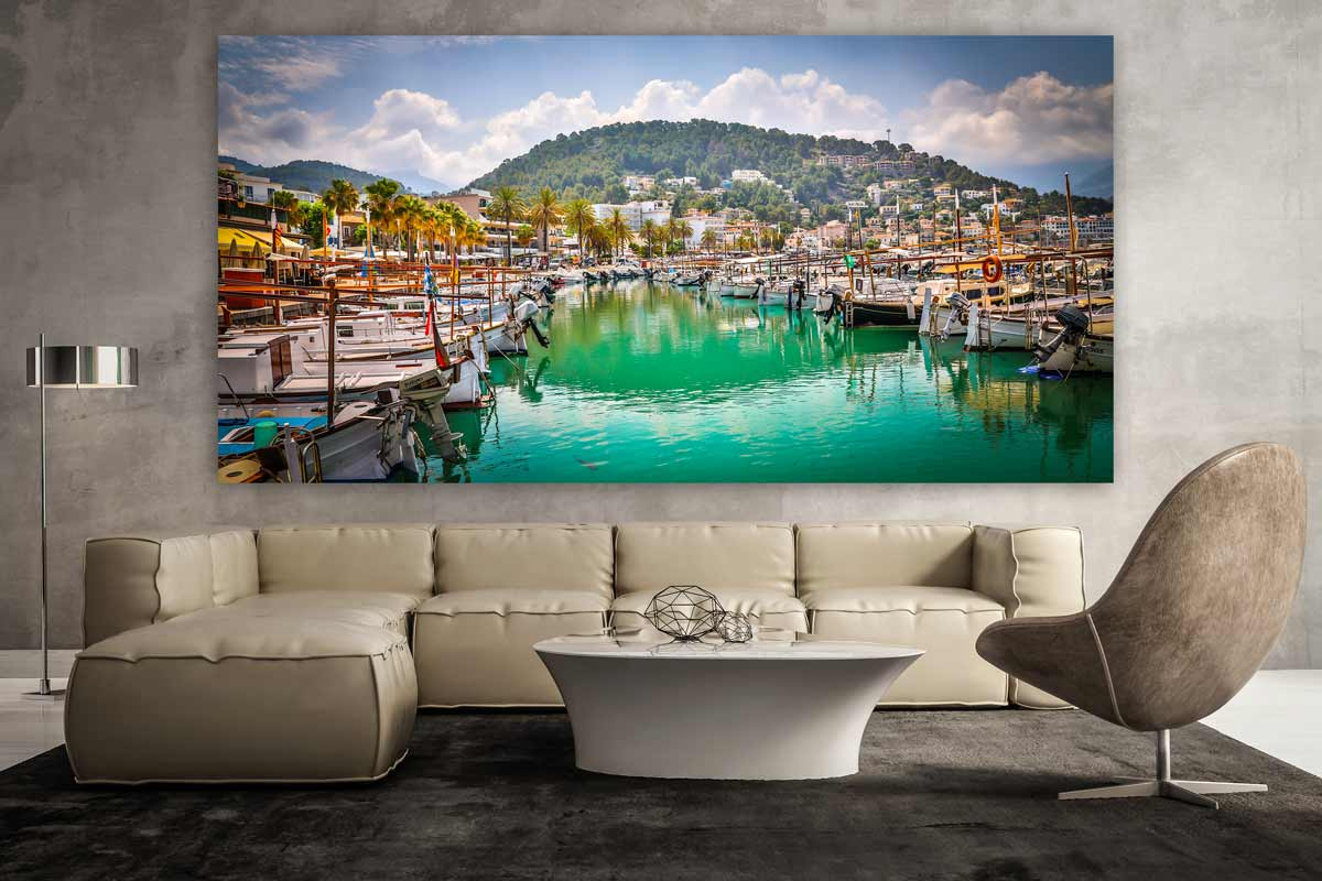 leinwandbilder mallorca im modernen panorama pop art