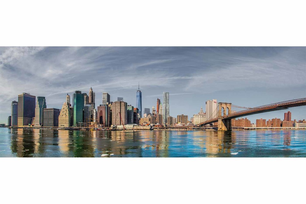 Leinwandbilder New York | City Panorama Kunst Bilder vom Hudson