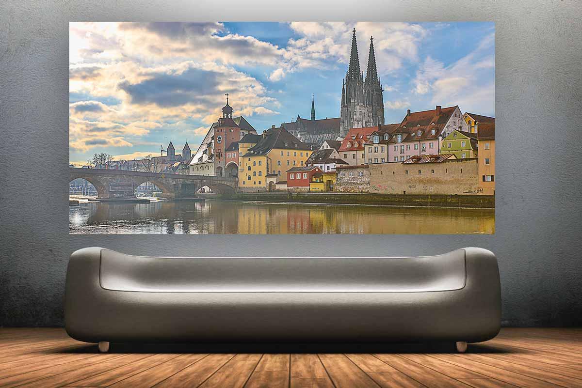Leinwandbilder regensburg und moderne wandbilder als - Moderne wandbilder auf leinwand ...
