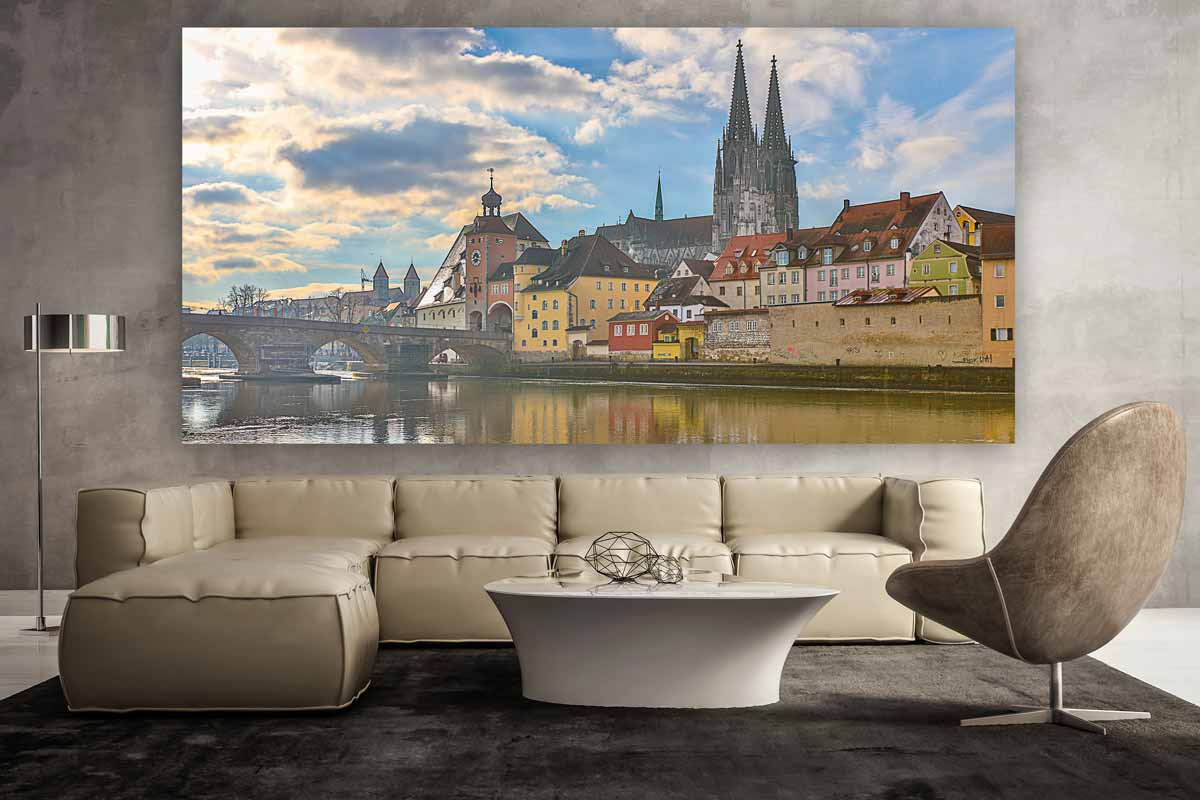 Leinwandbilder regensburg und moderne wandbilder als for Moderne leinwandbilder