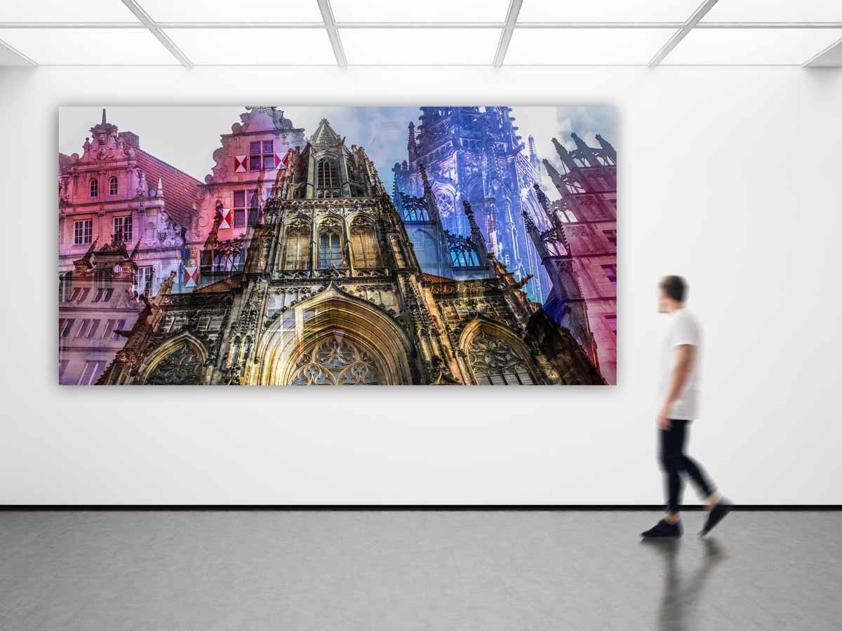 Munster Bilder Im Panorama Pop Art Design Leinwand Und Acryl Kunst