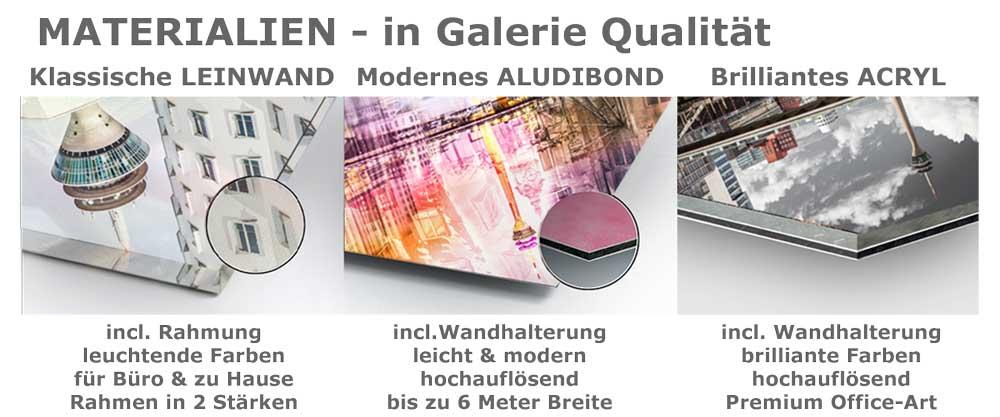 Materialien, Leinwand, Alu DiBond und Acryl, Kunst Bilder aus Düsseldorf, Collagen, Skyline und Panorama Bilder, Fotokunst