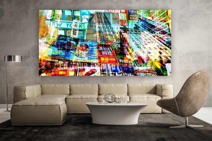 New York Art Bild - Moderne Kunstmotive auf Leinwand, Acryl und Alu