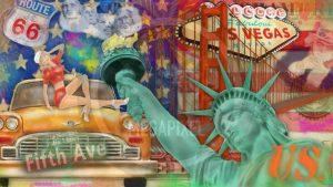 New York Bild und moderne FotoArt Collage | CIty Love 2.0