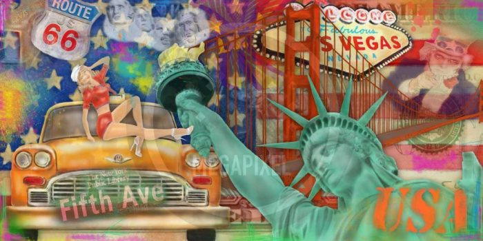 New York Bild und moderne FotoArt Collage | CIty Love 2.0