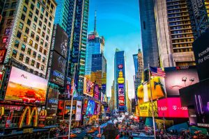New York Panorama Bild des Times Square | PLACE TO BE.