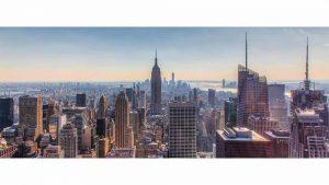 New York Skyline Panorama Bild | Moderne Fotokunst aus NY City