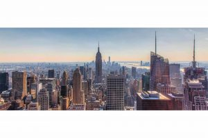 New York Skyline Panorama Bild | Moderne Fotokunst aus NY City