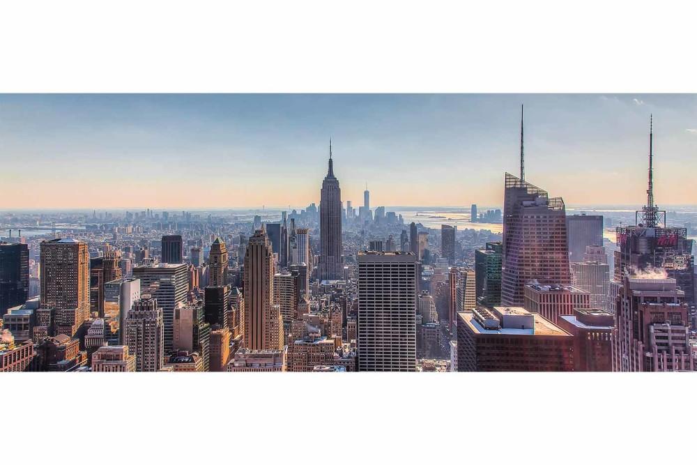 New York Skyline Panorama Bild Moderne Fotokunst Aus Ny City