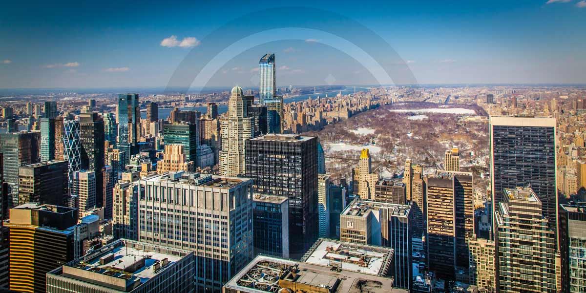 New York City | Panorama Kunst Foto Art aus dem Central Park