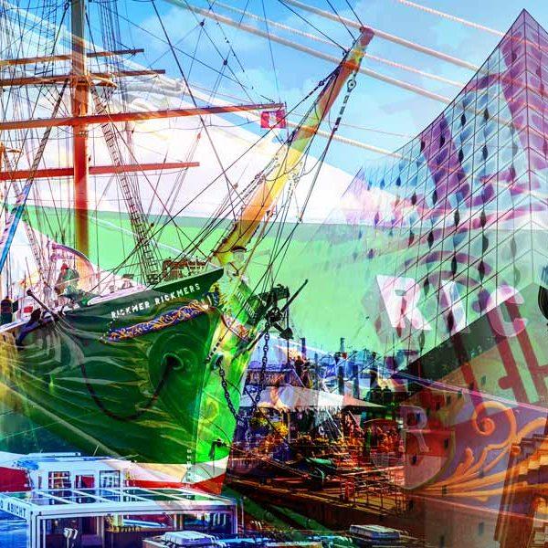 Acrylbilder Hamburg acrylbilder aus hamburg stadt vom elbe michel und alster