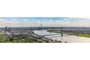 Panorama Bilder Düsseldorf | Skyline Kunstwerk auf den Rheinturm