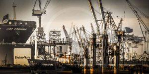 Panorama Bilder Hamburg | Kunst Collage aus der Speicherstadt