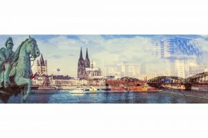 Panorama Bilder Köln. Moderne Panorama Kunst Bilder im Pop-Art Style