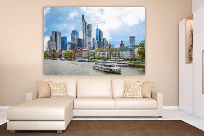 Panorama Frankfurt am Main und Stadt Skyline. Tolles XXL Kunst Motiv